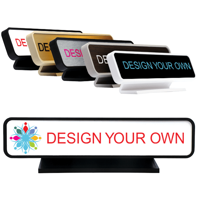 """Rounded Full Color Desk Sign - 2"""" x 9"""""""