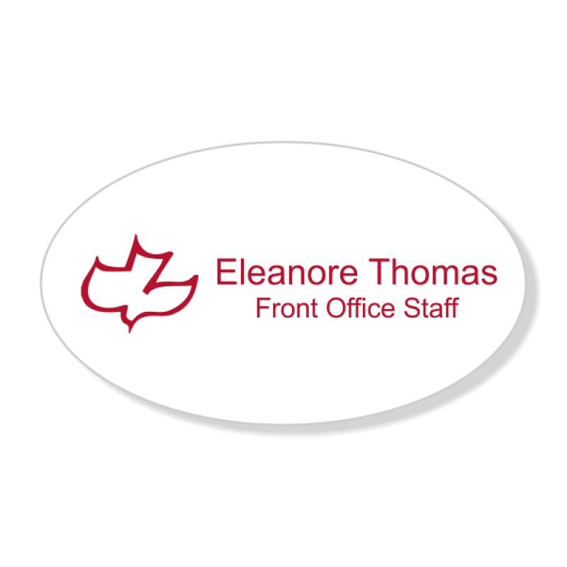 Calvary Engraved  Name Tag - Oval