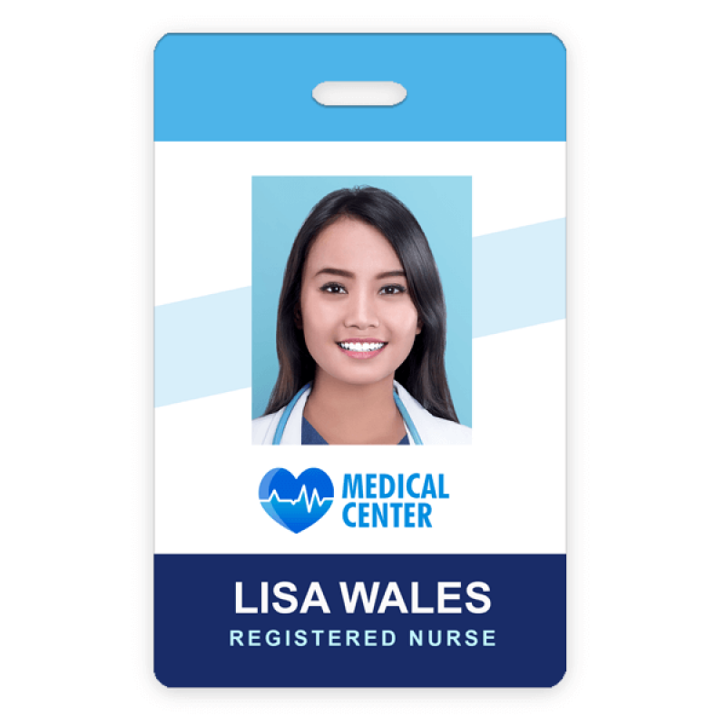 Custom Hospital Photo ID Badge