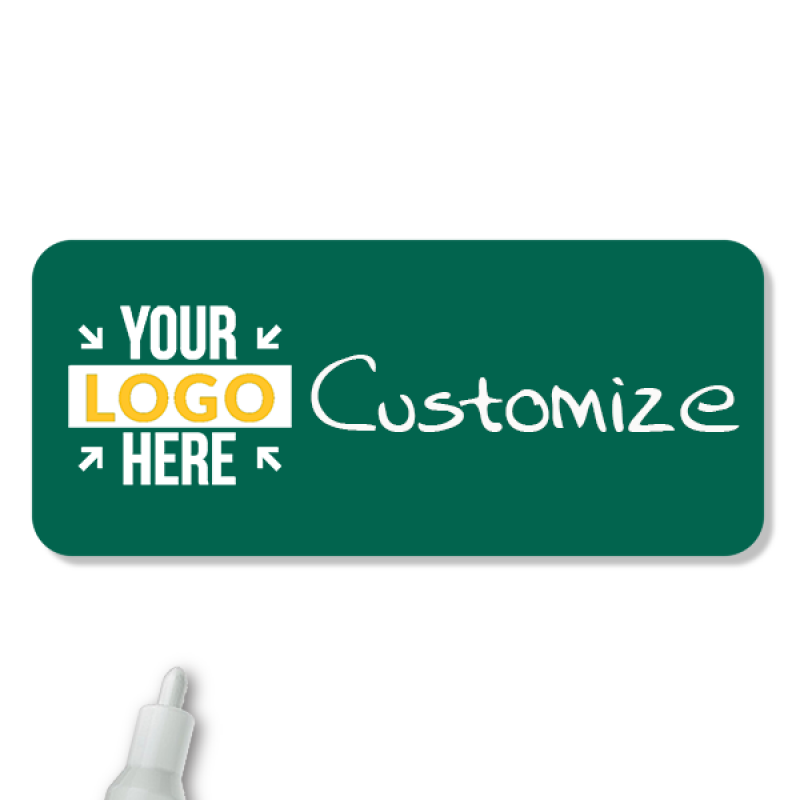 Customized 1.5 x 3.5 Chalkboard Reusable Name Tag
