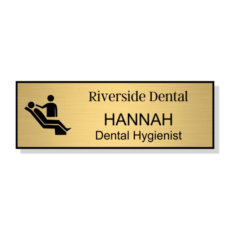 Dental Chair 3 Line Name Badge