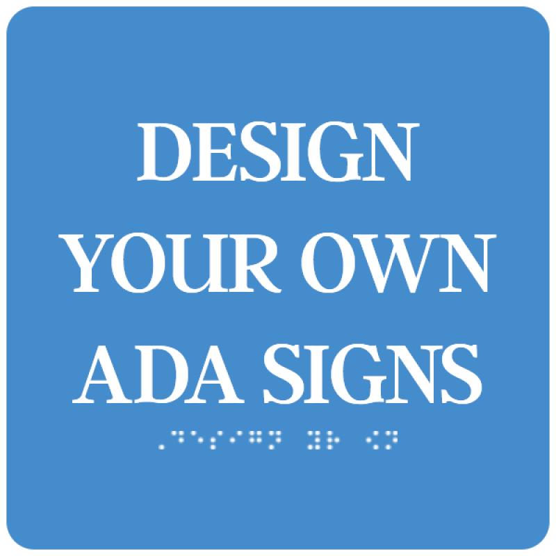 """ADA Sign Square 4"""" x 4"""""""
