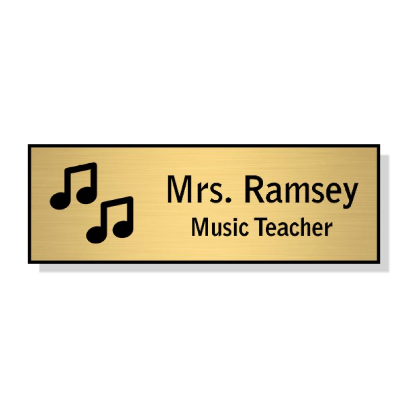 Music/Chorus Rectangle 2 Line Name Badge B