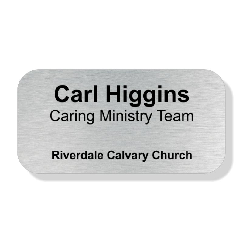 Medium Calvary Church Name Badge