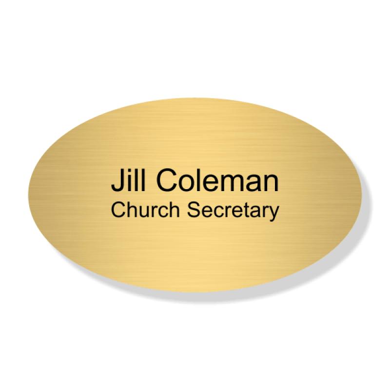 Oval Presbyterian Church Name Badge