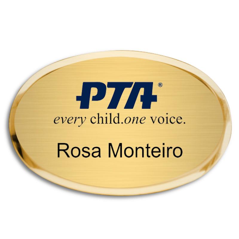 PTA Premier Oval Name Badge