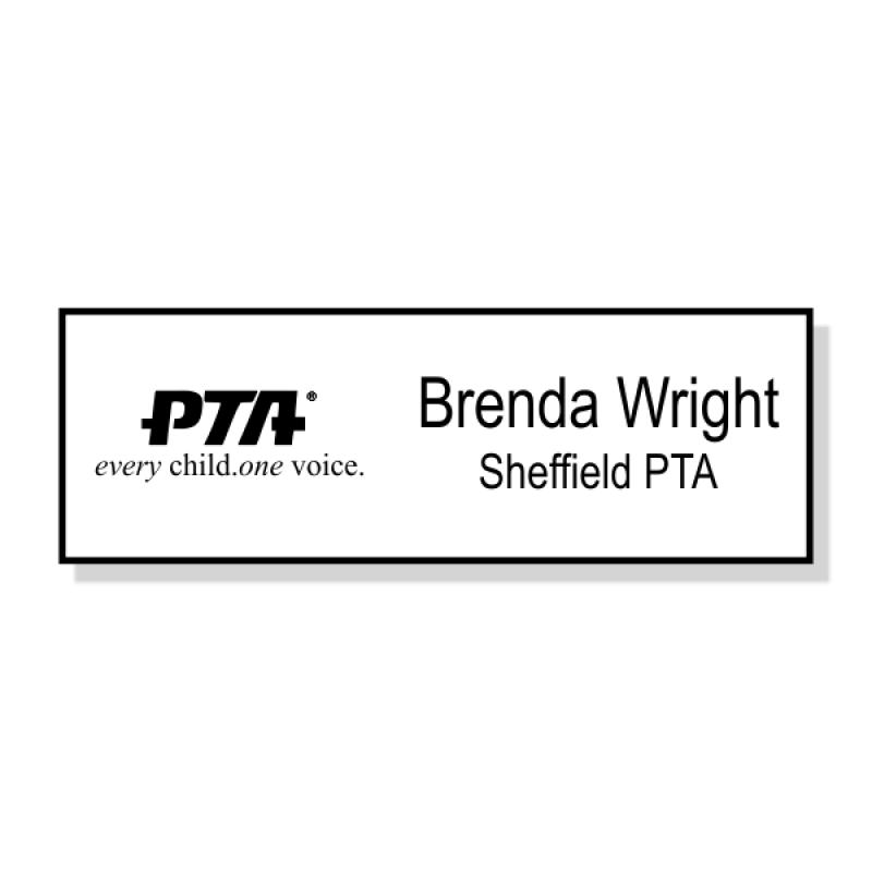 PTA Small Engraved Name Badge