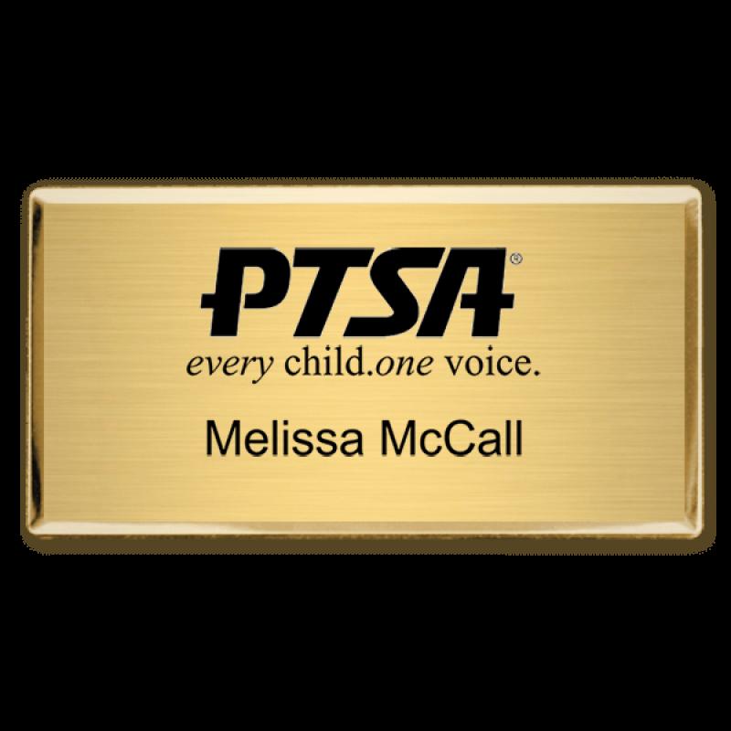 PTA Custom Engraved Name Badge