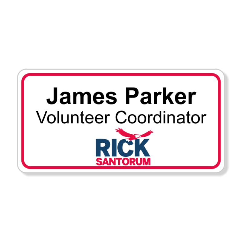 Rick Santorum Presidential Name Badge