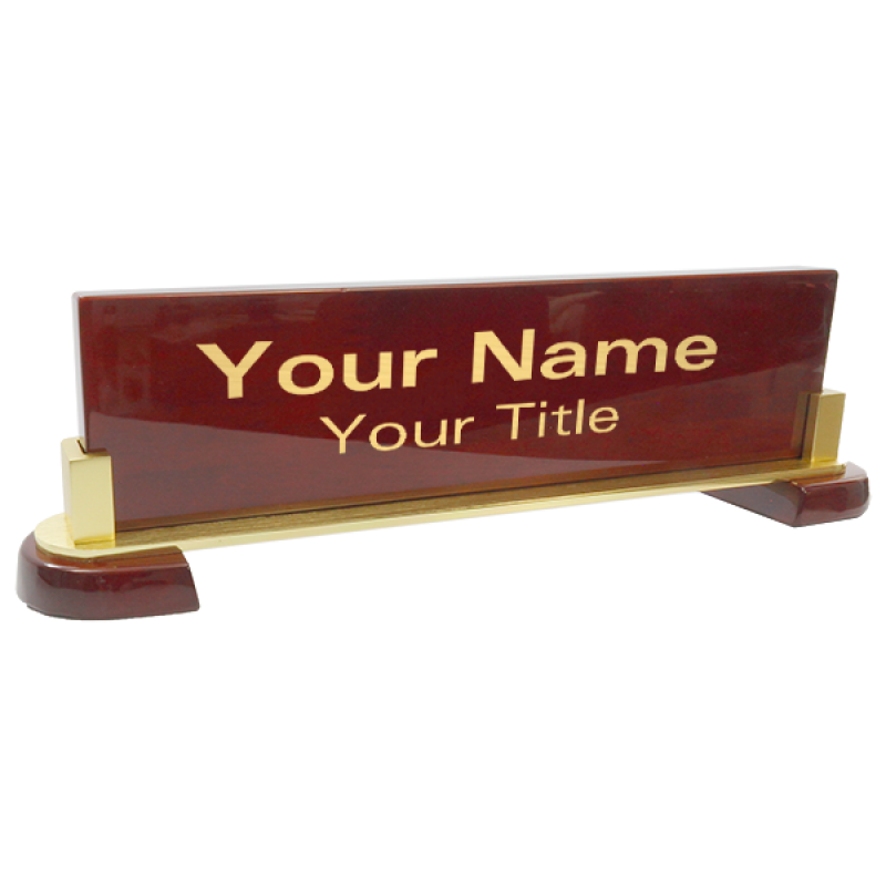 Customized Engraved Desk Plate  
