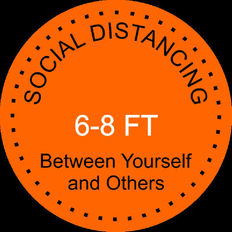 Round Social Distancing Floor Decal