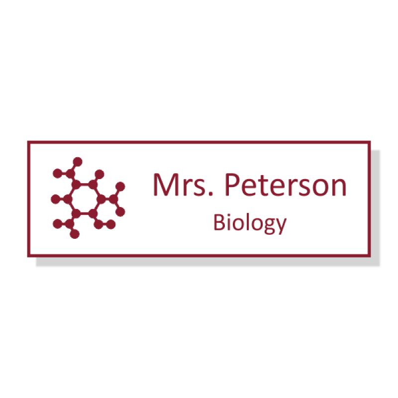 Biology Rectangle 2 Line Name Badge B