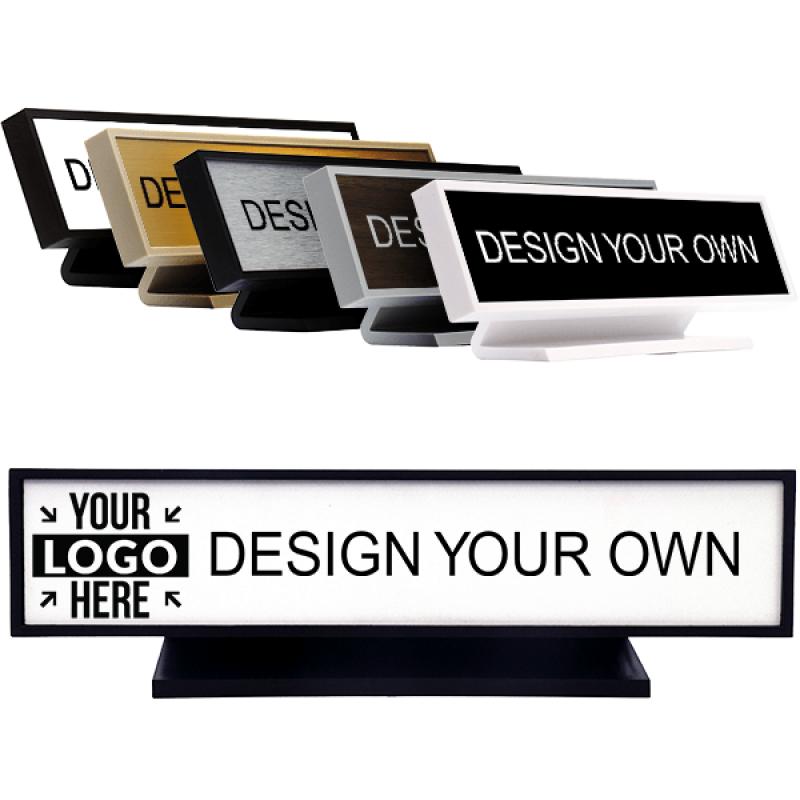 """Square Corner Engraved Desk Sign - 2"""" x 10"""""""