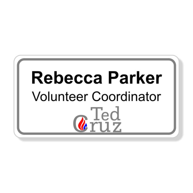 Ted Cruz Presidential Name Badge