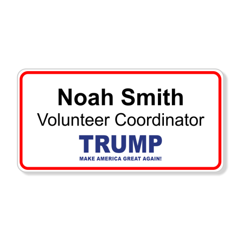 Trump Presidential Name Badge