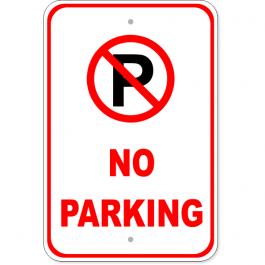 No Parking Aluminum Sign | 18