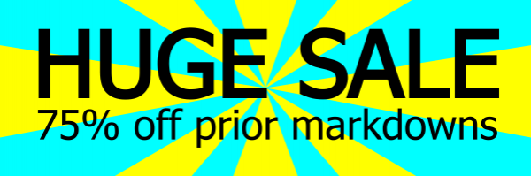 Sunburst Sale Banner