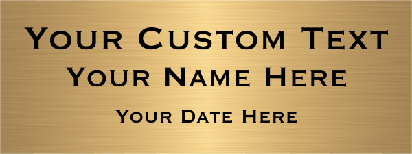 "Custom Three Line Brass Plates | 3"" x 8"""