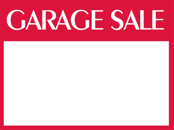 Custom Garage Sale Sign
