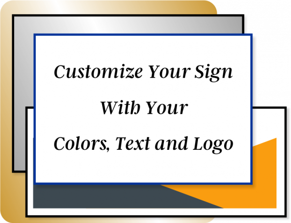 Color Sign Horizontal 4 in x 20 in