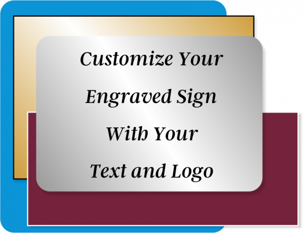 Engraved Sign Horizontal 8 in x 24 in