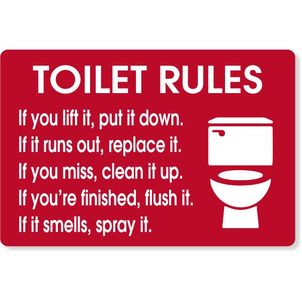 Bathroom Rules Decal Bathroom Rules Sign