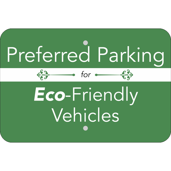 Horizontal Eco Parking Conserve Sign