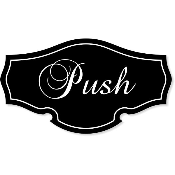 "Push Classic Shape Decal - 2.75"" x 5"""
