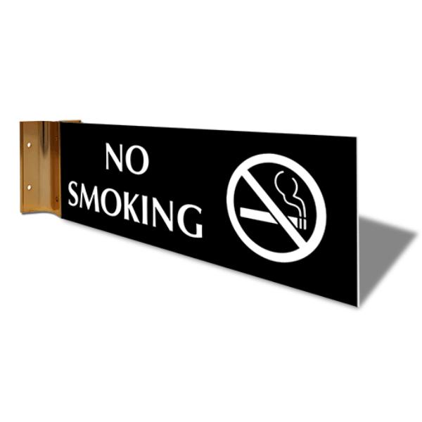 "No Smoking Corridor Sign   4"" x 12"""