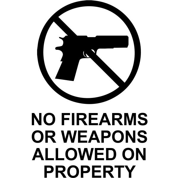 """No Weapons Die Cut Vinyl Decal   6"""" x 4"""""""