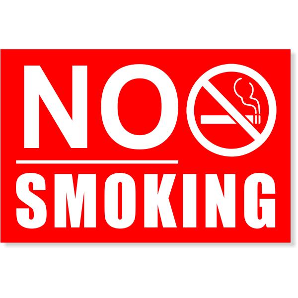 "Underlined NO SMOKING Sign | 4"" x 6"""