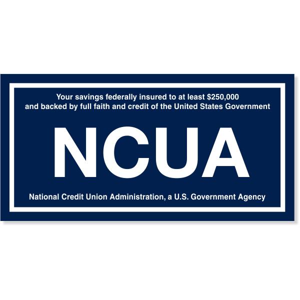 "NCUA Engraved Plastic Wall Plate | 4"" x 8"""