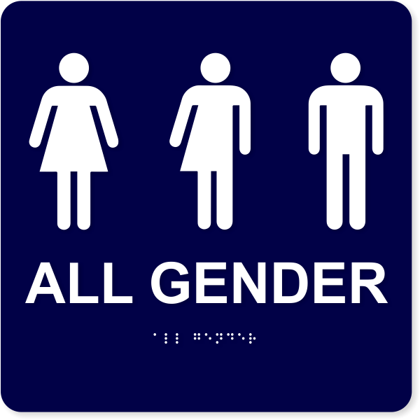 """All Gender with Icons - ADA Compliant   10"""" x 10"""""""