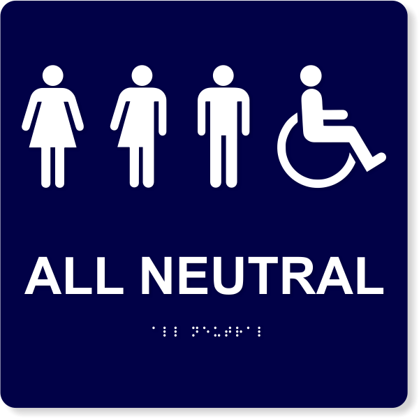 """All Neutral Handicapped Sign 