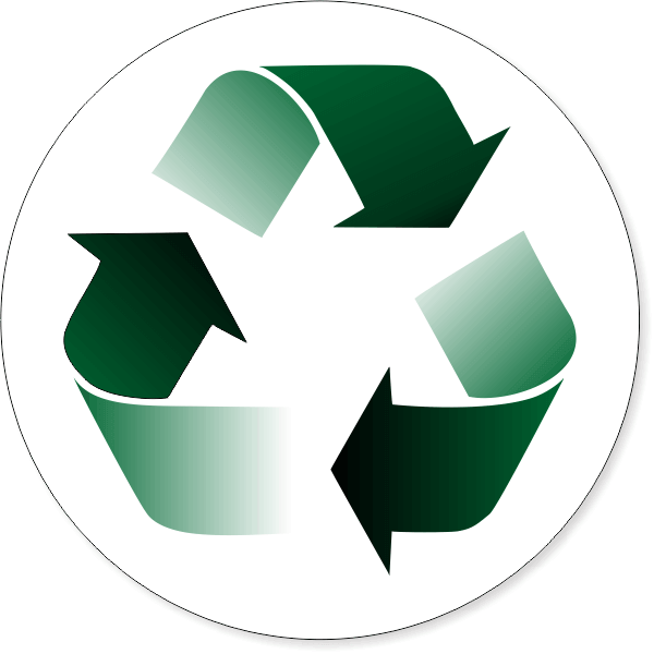 """6"""" Round Gradient Recycle Decal"""