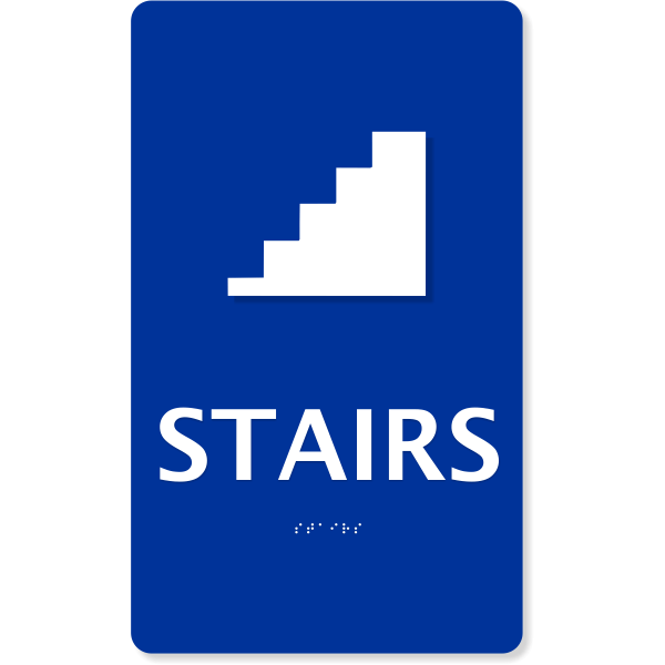 "ADA Braille Stairs Sign | 10"" x 6"""