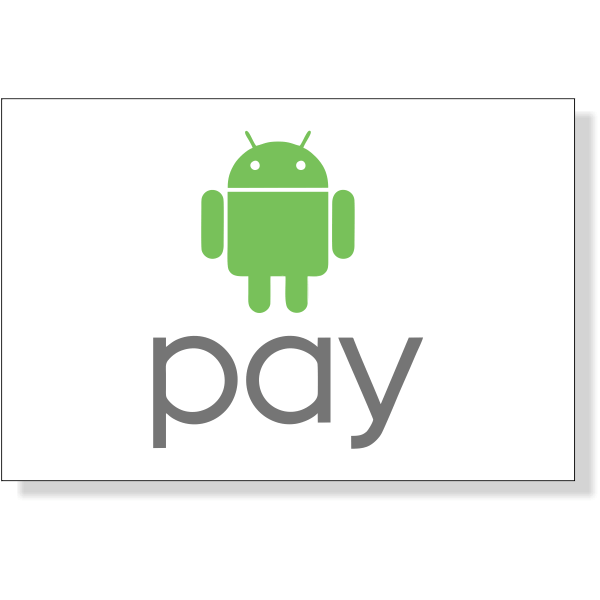 """Android Pay Decal   2"""" x 3"""""""