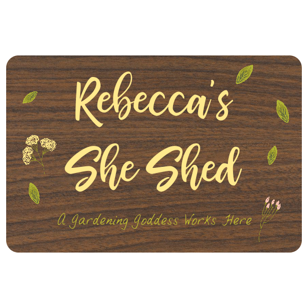 """Custom She Shed Floral Sign 