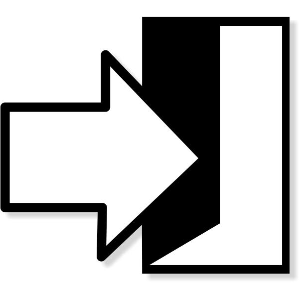 """Enter / Exit Icon Contour Cut Decal  6"""" x 6"""""""