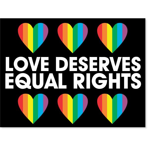"Equal Rights Yard Sign | 18"" x 24"""