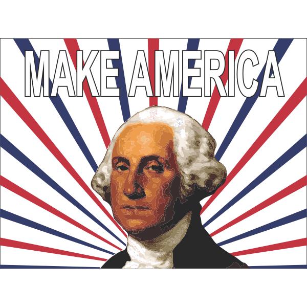 George Washington Make America Yard Sign