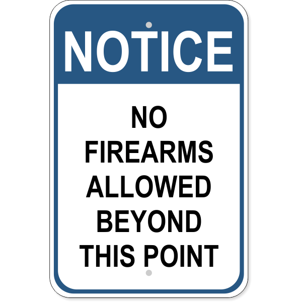 "No Firearms Allowed Aluminum Sign | 18"" x 12"""