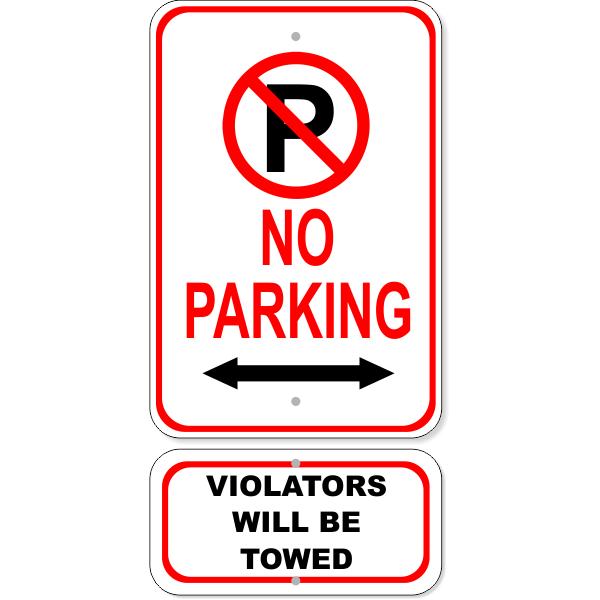 No Parking Sign Bundle