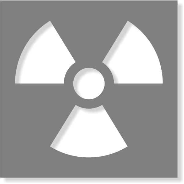 Radioactive Stencil | Multiple Sizes