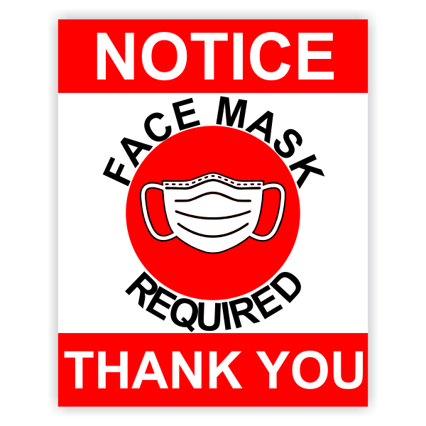 Face Masks Required Prior to Entry Sign