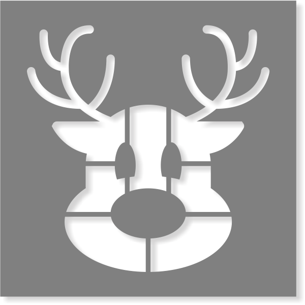 Reindeer Stencil | Multiple Sizes
