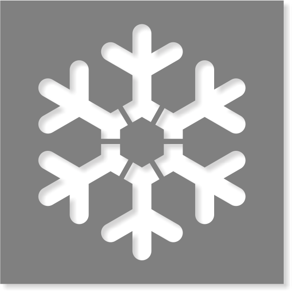 Snowflake Stencil | Multiple Sizes