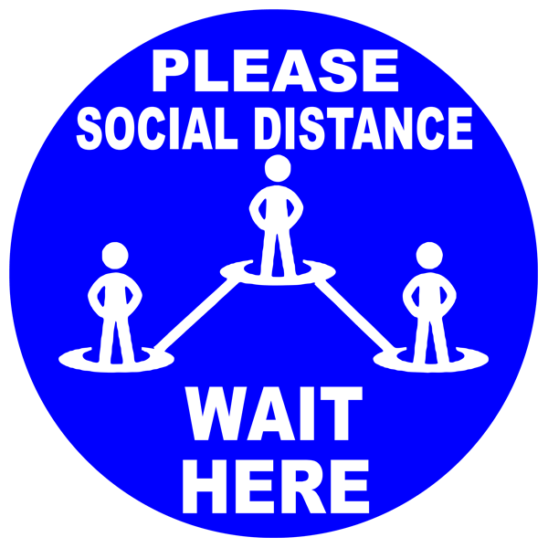 Please Social Distance Floor Decal