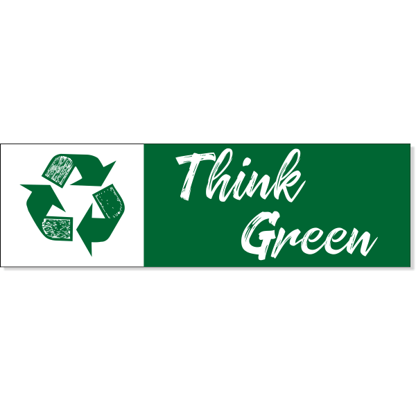 """Think Green Recycle Decal 