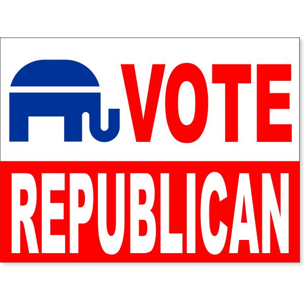 "Vote Republican Yard Sign   18"" x 24"""